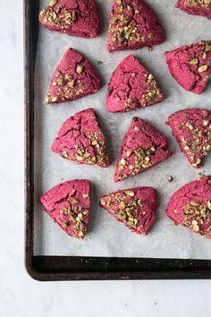 Beet Dark Chocolate Scones w/ Pistachio Crumble (Vegan + Gluten-Free) // The Green Life