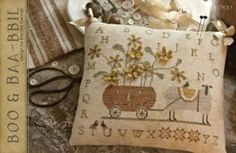 Boo & Baa-bbie is the title of this cross stitch pattern from With Thy Needle and Thread.