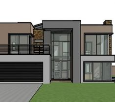 House design offers a contemporary double storey house plan. A 4 bedroom house design with bold features. Small House plans in South Africa. Modern Small House Design, Modern Contemporary Homes, Double Storey House Plans, Double House, 4 Bedroom House Designs, House Plans South Africa, 2 Storey House Design, House Plans With Photos, Beautiful House Plans
