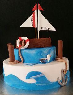 Mit Jesus in einem Boot - Motivtorte zur Kommunion