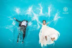 Ideas for wedding photo shoot, swimming pool