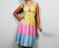 Lace up 70s dress @ http://www.etsy.com/shop/FrequencyVintage
