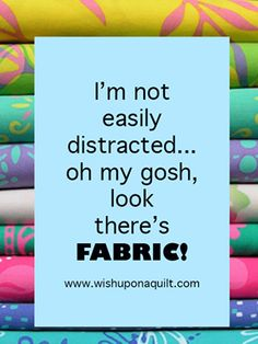 OMG there's fabric!