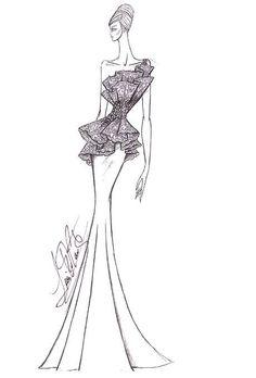 Drew Barrymore's Wedding Dress: Designer Sketches | Wedding Dresses | Brides.com | Wedding Dresses Style | Brides.com