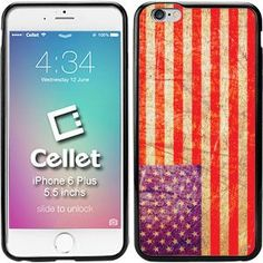 TPU / PC Proguard Case with Flag of USA Vintage for iPhone 6 Plus