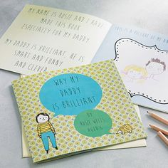 personalised 'why my daddy is brilliant' book by lou brown designs | notonthehighstreet.com