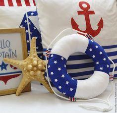 Купить Текстильная рыбка По морям, по волнам - морской стиль, украшение детской, спальные принадлежности