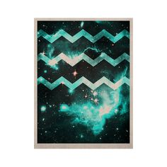 "Caleb Troy ""Blue Star Chevron"" KESS Naturals Canvas (Frame not Included)"