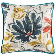 Embrace the embellished florals hand-painted on the Etta Cushion from KAS in your décor. Soft Furnishings, Cushions, Tapestry, Hand Painted, Throw Pillows, Blanket, Rugs, Floral, Painting