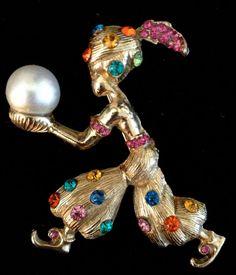 Rare Vintage Har Genie Brooch by Vintageimagine on Etsy, $225.00