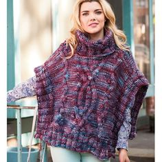 WILLIAMSBURG CABLED PONCHO