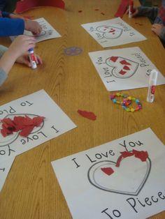 Parent's Valentines Gift--Behind the scenes: Mrs. Gloudemans' Class: Valentines