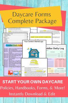 Daycare Contract, Daycare Setup, Daycare Design, Kids Daycare, Toddler Preschool, Preschool Lessons, Daycare Ideas, Preschool Activities, Parent Handbook