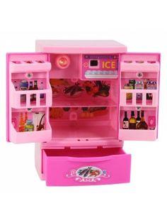 Mini Kitchen Plastic Sound Simulation Refrigerator for Kids Toy Kitchen  Set cdef1f3832b14