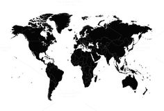 World map vector with borders by ralelav on @creativemarket