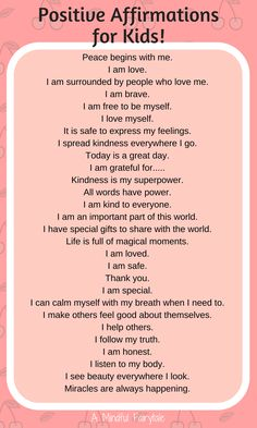 Positive affirmations for kids! - Positive affirmations for kids! Positive affirmations for kids! Gentle Parenting, Parenting Advice, Kids And Parenting, Peaceful Parenting, Parenting Classes, Parenting Memes, Positive Affirmations For Kids, Quotes Positive, Positive Discipline