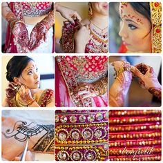 colorful indian wedding details