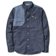 Carhartt WIP L/S Denim Patch Shirt http://shop.carhartt-wip.com:80/us/men/new/capsule/I017826/null