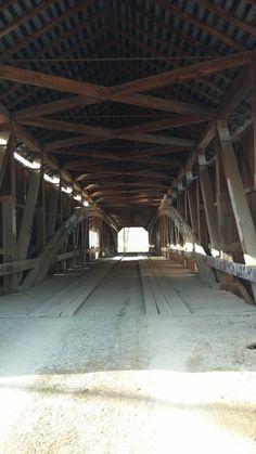 Inside Coxford Covered Bridge