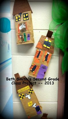 Paper bag haunted house project by Beth Smith's Second Grade Class -- 2013