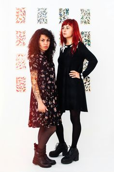 Loose Printed Dress, Shirt Dress, Dress With Pockets, Leaf And Flower Printed Dress, Short Dress, Button Down Dress