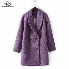 purple lady coat bella