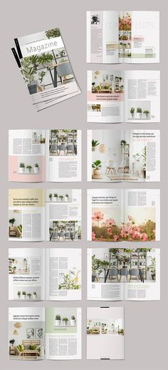 Stock template of Magazine Layout with Pale Color Accents. Search more similar templates at Adobe Stock Magazine Page Design, Magazine Page Layouts, Magazine Design Inspiration, Magazine Photos, Magazine Spreads, Layout Inspiration, Indesign Free, Indesign Magazine Templates, Indesign Layouts