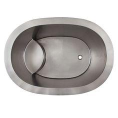 """48"""" Raksha Stainless Steel Japanese Soaking Tub - Bathtubs - Bathroom"""