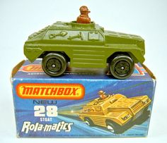 Matchbox SF Nr. 28B Stoat militärgrün top in Box