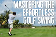Golf Ladies Tips Mastering the Effortless Slow and Easy Golf Swing - Wonder why golf pro's swings look so slow easy and effortless? The answer is in your swing mechanics. Try this to finally master the effortless golf swing. Golf R, Play Golf, Disc Golf, Golf Videos, Golf Instruction, Golf Exercises, Men Workouts, Golf Tips For Beginners, Golf Player