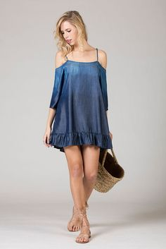 New moda mujer verano 2019 Ideas Casual Dresses, Short Dresses, Fashion Dresses, Fashion 2018, Womens Fashion, Vetement Fashion, Jeans Denim, Denim Fashion, The Dress