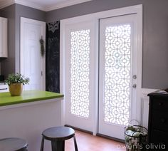 Update: Some have asked how I hanged these. Please see this post published on June 15, 2015.   I LOVE my custom PVC window covers...