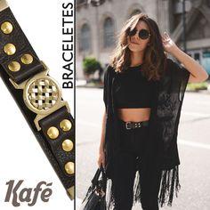 Confira na Adoro Presentes os Braceletes da Kafé. Essa tendência vai bombar no inverno. Aposte nos tons escuros. #Bracelete #moda #fashion #Kafé #AdoroPresentes #tendência #Inverno