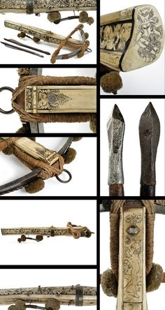 An important crossbow with knightly coat of arms.    provenance: Germany dating: last quarter of the 16th Century.: