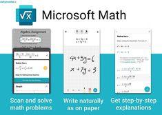 دانلود برنامه حل مسائل ریاضی مایکروسافت برای اندروید Microsoft