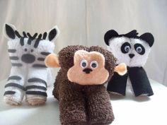 Mono, cebra y osito panda