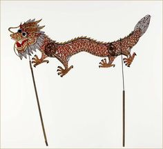 Dragon shadow puppet