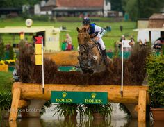 Shannon Brinkman photo  Australian Chris Burton on Holstein Park Leilani was the only combination to make the time on the Aachen CIC*** course and they moved up to the win.