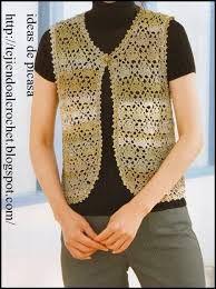 Resultado de imagen para chalecos y blusas tejidas a gancho