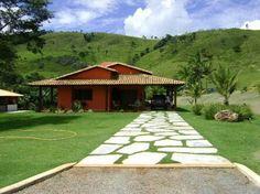 para a fazenda / sitio / chacara Small Cottage Homes, Mexico House, Adobe House, Tiny House Cabin, Backyard, Patio, Little Houses, House Rooms, My Dream Home