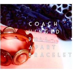 GoRg •Coach• Gold BeveLed Round Stone BraceleT GoRg •COACH• unique Gold beveled round stone pull-apart bracelet. Hardly worn. Amazing condition. Heavy duty hinged bracelet, with some weight to it. Stones have a glisten to them, and I want to say the color is like a peachy tone. Coach signature date/ name surrounding the top stones. Pull apart/open closure, so easy to put on & off. I have yet to come across another bracelet in this style. Very one of a kind. Layer with chunky gold bracelets…