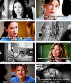 Tell Meredith that I love her and that she was a good sister.