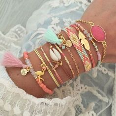 Looooove this arm party!:Looooove this arm party!:Looooove this arm party! Cute Jewelry, Boho Jewelry, Jewelery, Handmade Jewelry, Jewelry Design, Fashion Jewelry, Stylish Jewelry, Gothic Jewelry, Beach Jewelry