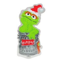 Product Works Sesame Street Oscar the Grouch Jelz Christmas Window Cling Green Christmas Lights, Christmas Wreaths, Christmas Cards, Sesame Street Characters, Oscar The Grouch, Watch Cartoons, Window Clings, Snoopy And Woodstock, Christmas Central