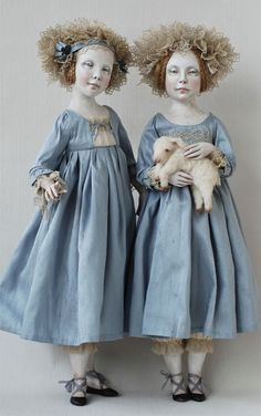 'Twin Doll's' - by Olga Sukach, contemporary doll maker.