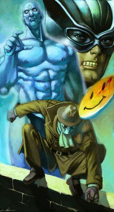 Who Watches the Watchmen Podcast — Strange Harbors Dc Comics Art, Image Comics, Marvel Dc Comics, Anime Comics, Comic Book Characters, Comic Character, Comic Books Art, Comic Art, Dr Manhattan
