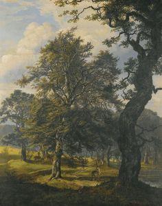 Dyrehaven near Copenhagen, 1853, Johan Christian Dahl
