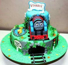Thomas the Tank Engine cake!
