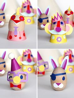 Cute Easter Egg Dress Up Decorations // Free download from Smallful when you signup for their newsletter!