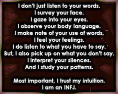 I am an INFJ.